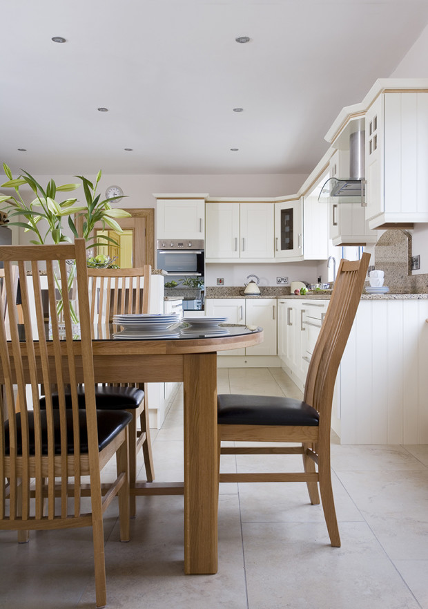 Solid Wood Painted Ivory Kitchen