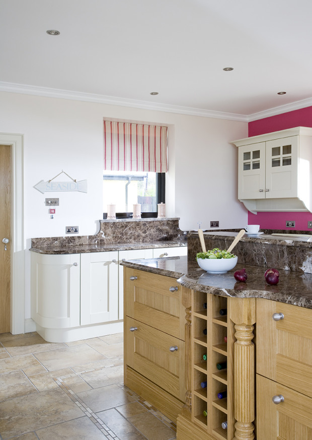 Solid Walnut Kitchen With Silestone Worktops