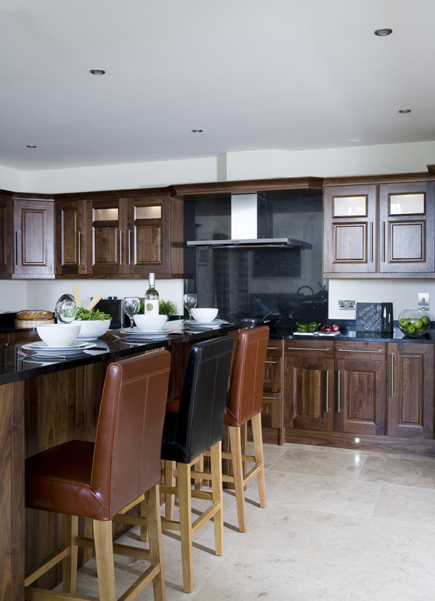Bespoke Painted Kitchen With Light Walnut Worktops