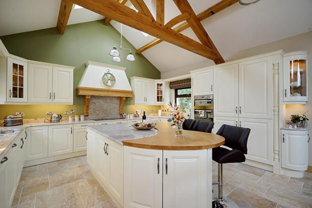 Roof Beams Kitchen